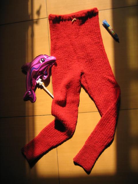 阿囡去年的毛裤(今年还可以穿)