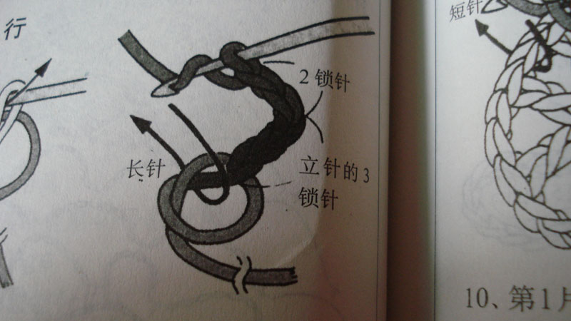 3:钩5锁针,1长针。