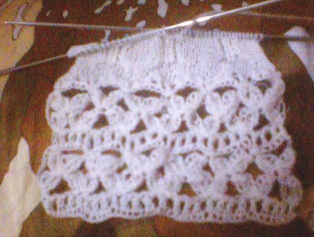 钩针和棒针相结合的一款围巾(未完工)