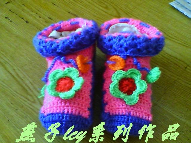 刚完成的可爱的小鞋子.