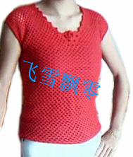 红色鱼网衫