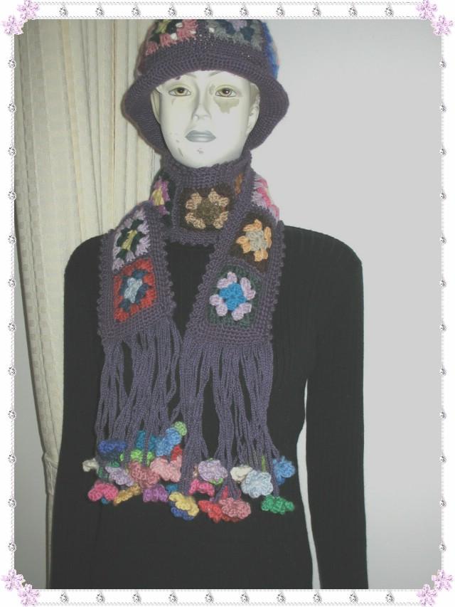 花朵披肩与帽子