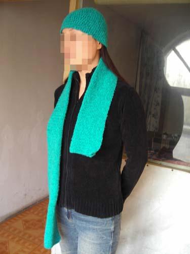 毛巾线的帽子围巾
