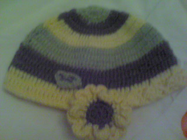 花朵护耳帽