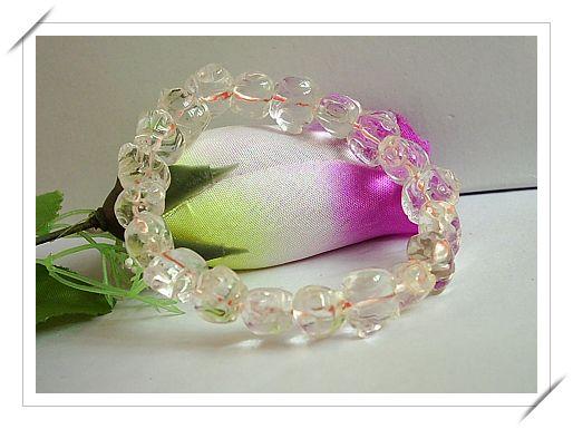 天然淡紫黄晶财猪手链90.00元