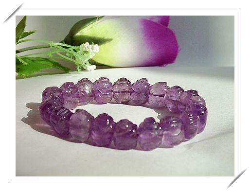 天然紫财猪手链90.00