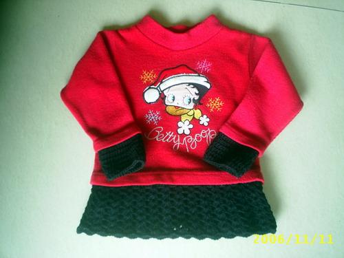 我家宝贝很喜欢这件毛衣,但是太短了,又不让我送人,于是就钩了个边,看看行不?