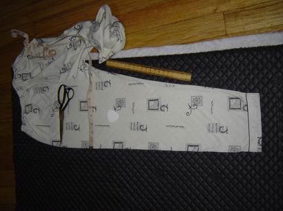 仿照LG的一条睡裤的尺寸 先剪裁裤面
