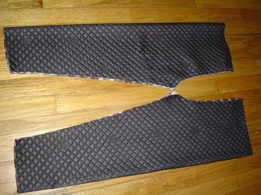 折叠后 两个裤腿的效果