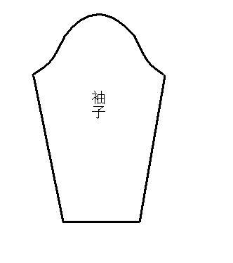 5、裁袖子,长度根据宝贝的实际尺寸量。