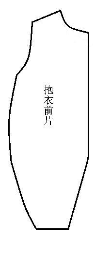 1、按宝贝的实际尺寸进行测量,裁出两片前片,一左一右。注意:因为前片要加拉链,所以要稍宽些。