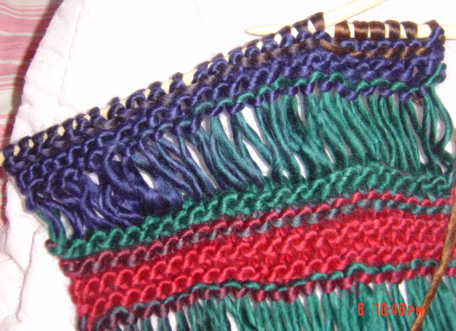 教你织镂空花围巾(图片+图解+视频)