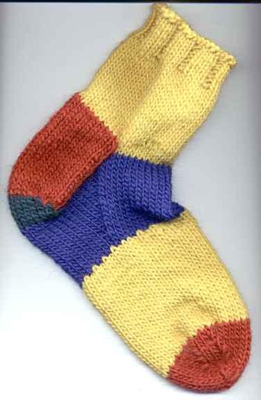 袜子的结构图