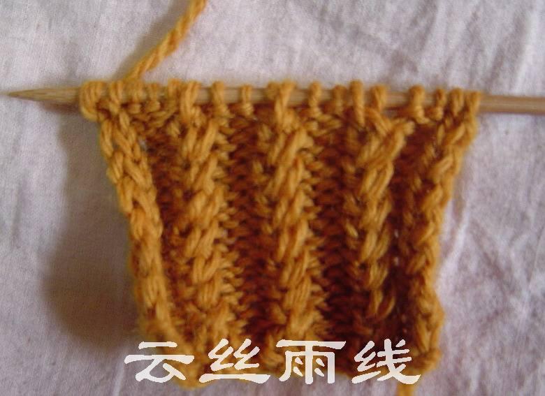 片织织鱼刺骨针,斜得很明显哦,谁有办法解决这个问题???织法参考http://bbs.bianzhirensheng.com/read.php?