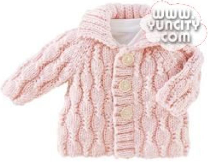 想给4岁的女儿织一件呢.不知该起多少针,另外这个边和领子应该怎么织?