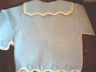 第一件毛衣背面