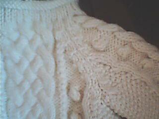 第二件毛衣插肩部分(织法是学云姐姐的)