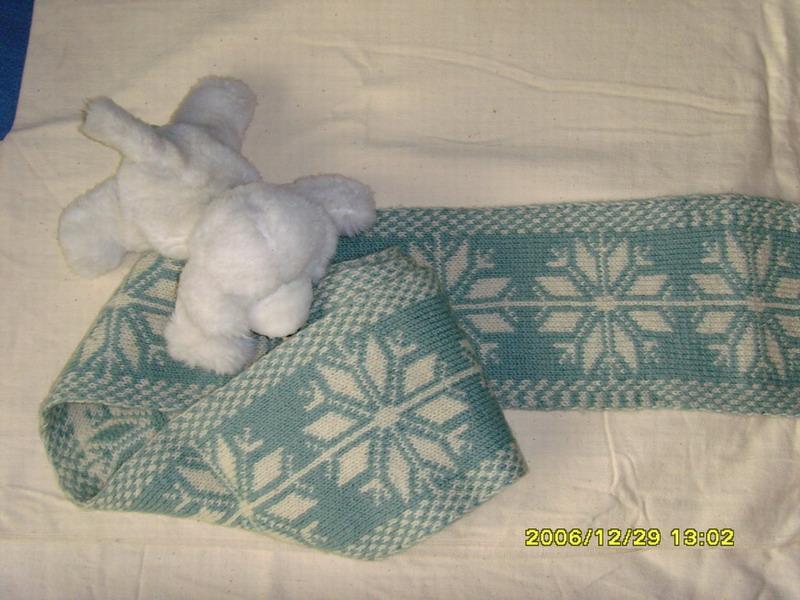 结婚前织给老公的围巾,现在可没这耐心了