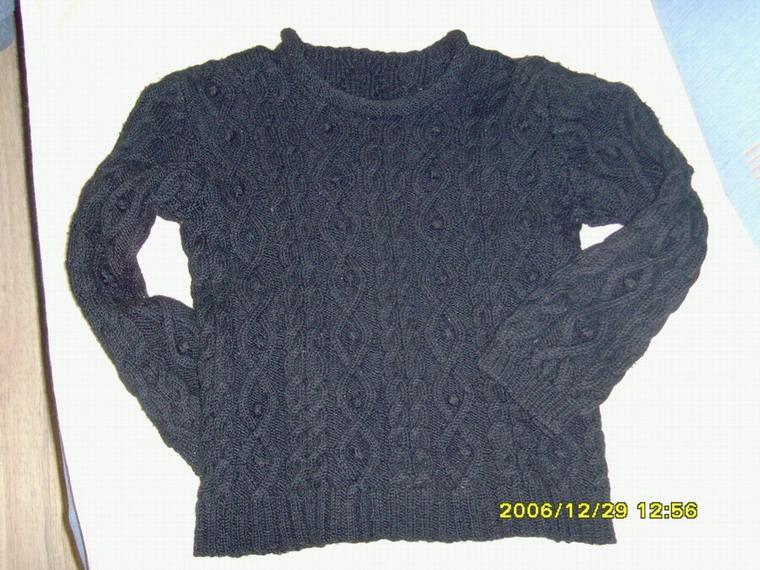 给儿子织的第一件毛衣