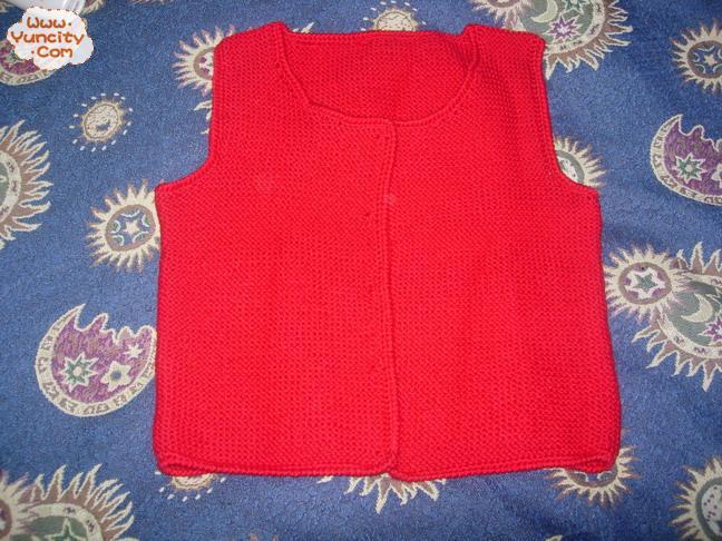 以前织的童坎肩