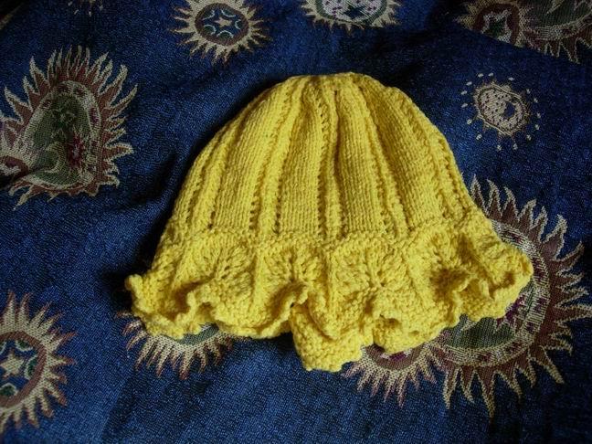 镂空花童帽