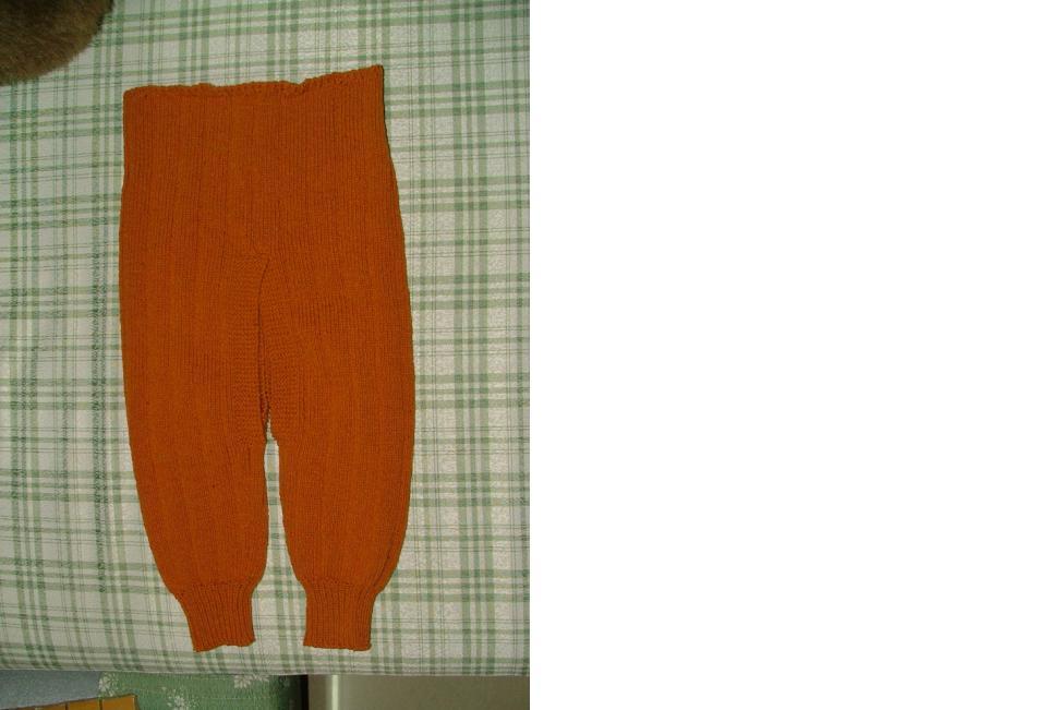 第二条毛裤,迷云家的桂圆黄的全羊毛线,洗后很软。