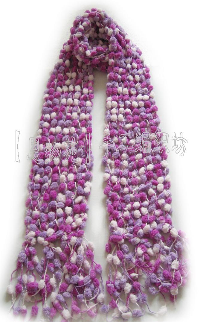 珍珠线围巾的织法(有图解)