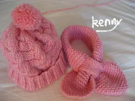仿坛子里的帽子和蝴蝶巾,刚完成的