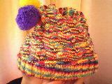 跟坛里的JM学织的儿童帽子