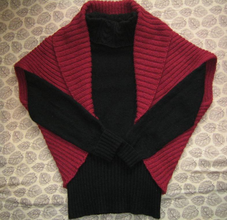 给妈妈织的披肩。
