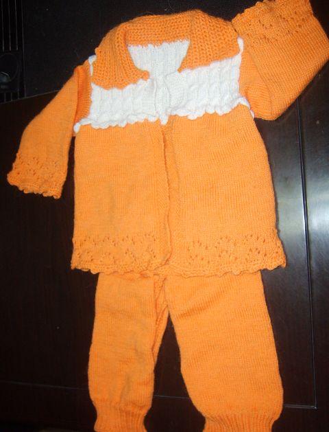 米兰绒婴儿套装(用线5两)