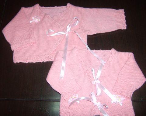 山羊绒贴身婴儿衣衣(用线2.5两)