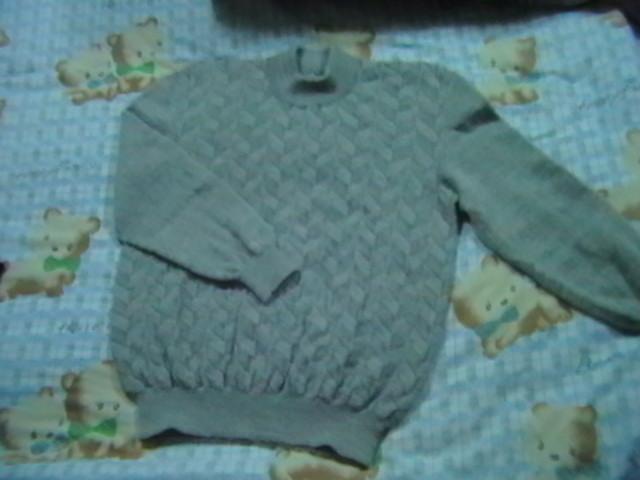 男友的毛衣,我打的,只是拍的不好。