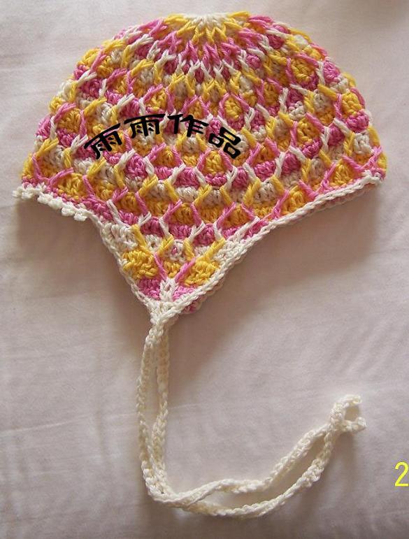 漂亮的帽子 不过好像钩大了点