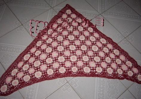 羊绒线,半斤左右,拼色又拼花.