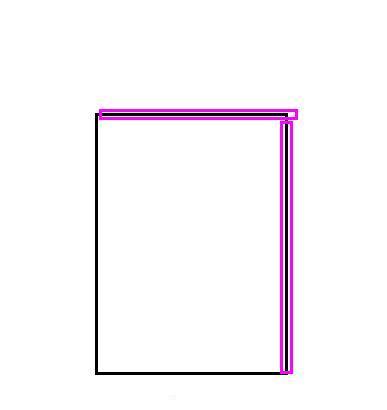 2、折好的报纸如图,玫红色部分是折过的地方,千万别错了,要不然后面的步骤就白费了。