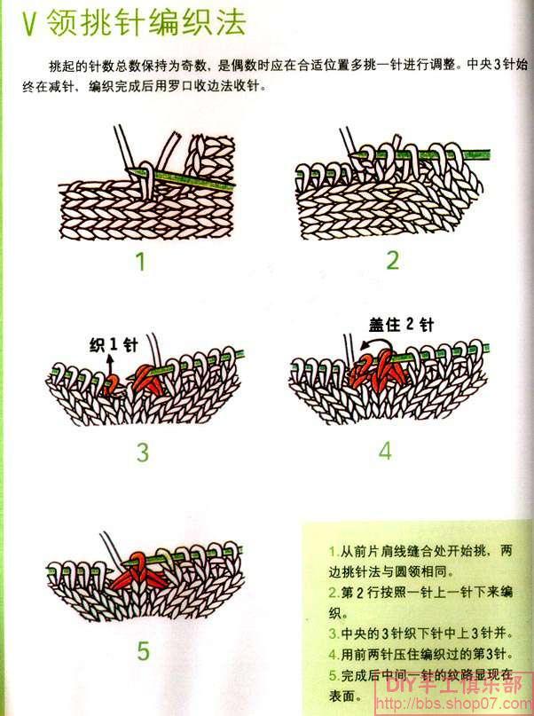 V字领织法