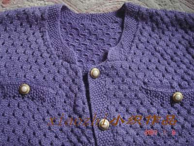 紫色毛衣的领口,一个MM要的