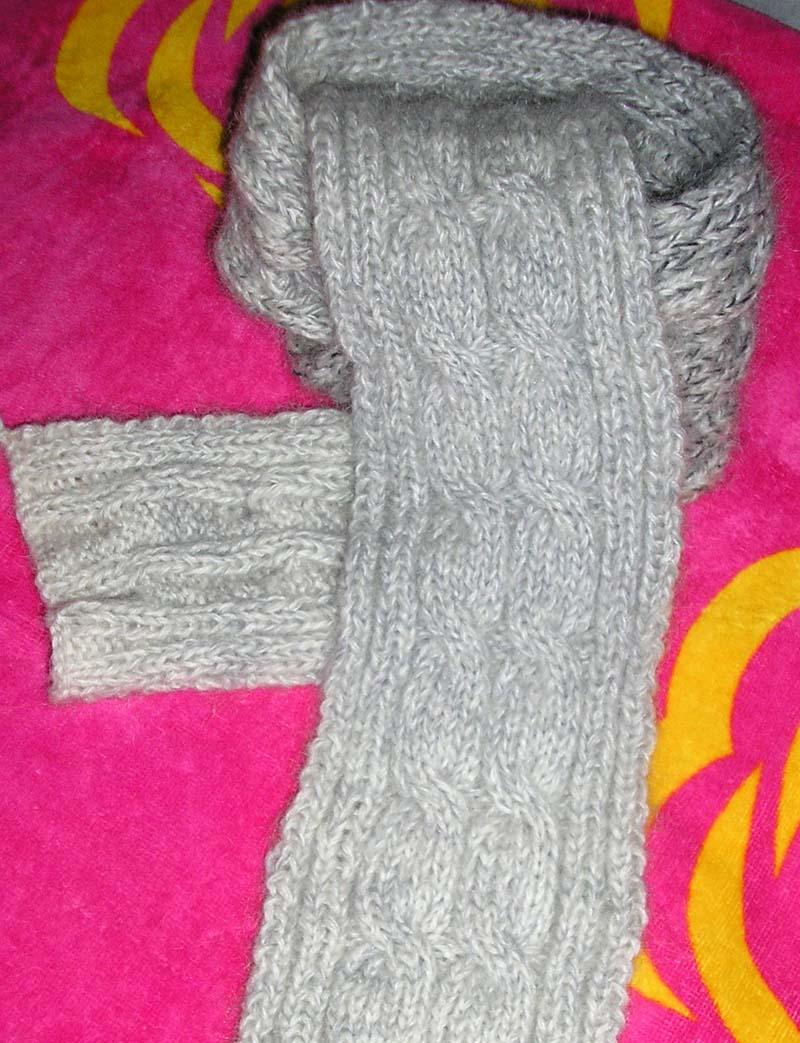 超暖和的麻花围巾啊!