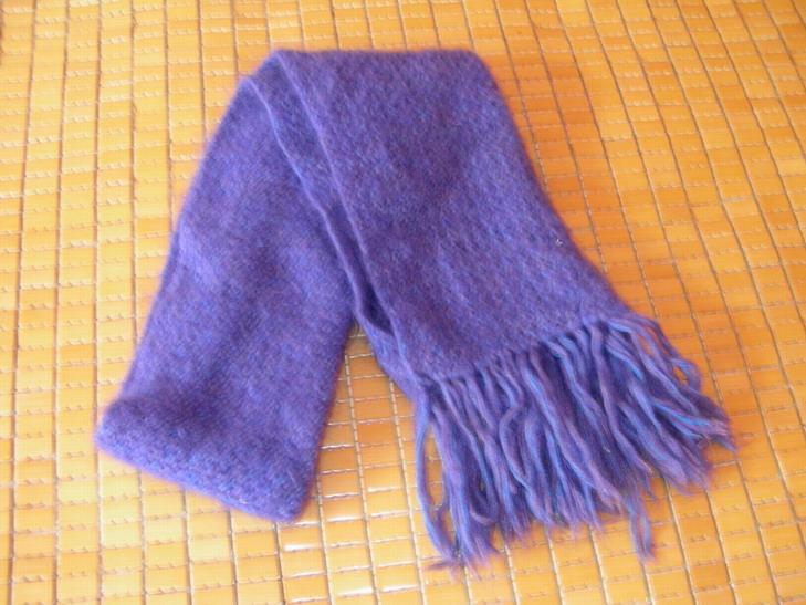 送给婆婆的围巾,呵呵!李氏马海毛夹两股全毛线!