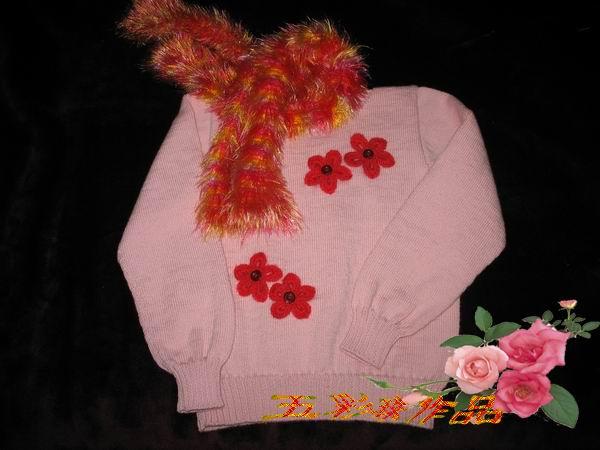 用米米妹的意大利羊毛织的毛衣
