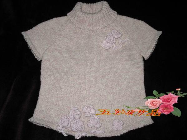 用米米妹的花线织的插肩袖毛衣