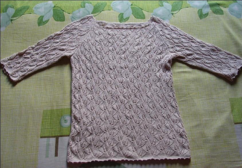 米米家的进口棉线织的七分袖,用了4两线还不到,好省呀。