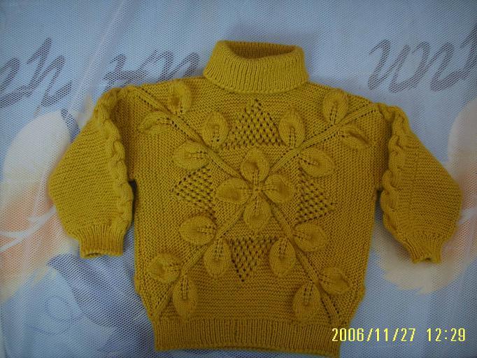 同事帮织的一件漂亮毛衣