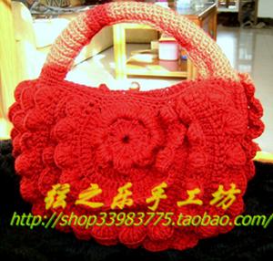.1完成的手工手提包 今年最流行的手工毛线包包 图解来了