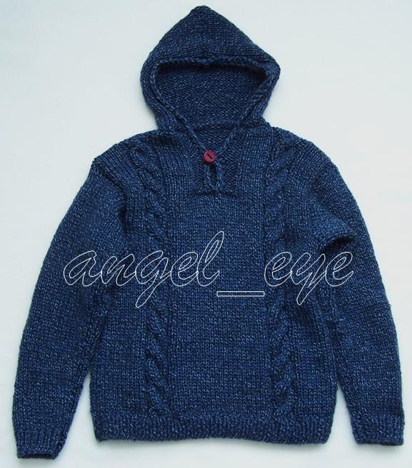 儿子的毛衣,蒂伊丝夹棉毛,5毫米棒针