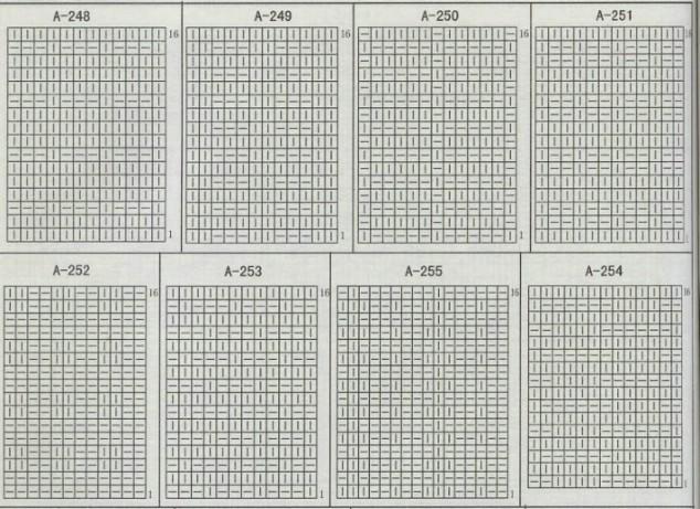 图比较多,可以对照花样图右上角的编号找相应的图解(花样图编号是按序排的,看不清的话可依照相邻号码推断