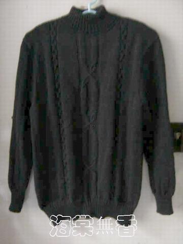 从上往下编织的黑色毛衣