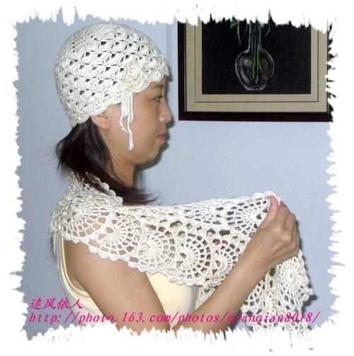 送姐姐了,怕了丝光棉,只有钩帽子