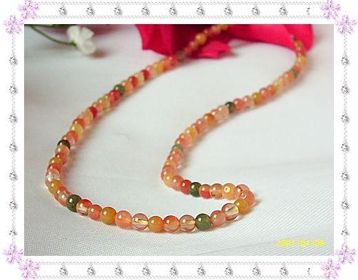 新款精致天然彩色水晶福禄寿项链,珠粒个体通透,售价220.00元